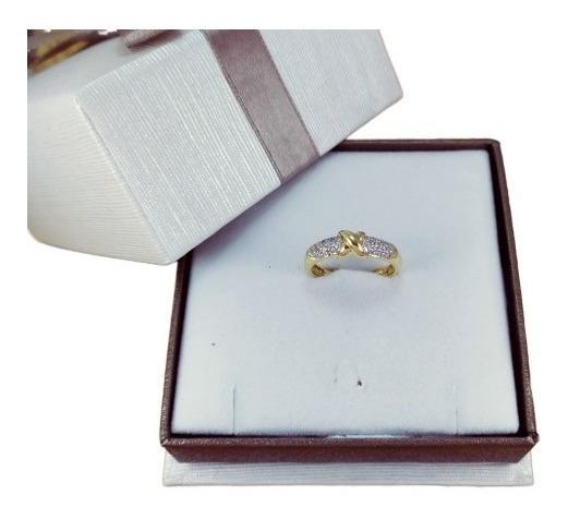 Barato! Anel Feminino Luxo Ouro 18k Love Lana 1555