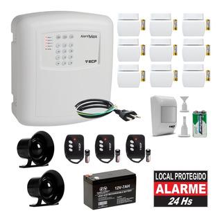 Alarme Residencial Sem Fio Completo 10 Sensores 2 Sirenes