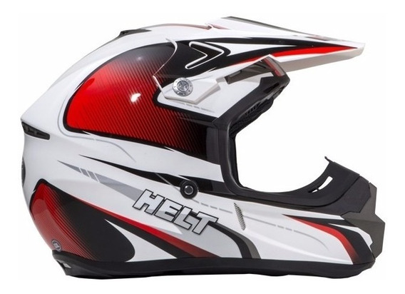 Capacete Helt New Cross Design Vermelho N 56