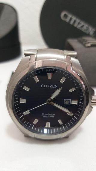 Reloj Ecodrive Titanium Bm7431-51l Cristal Safiro Envio Grts