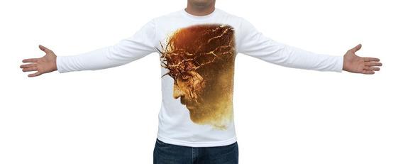 Camiseta Paixão De Cristo - Manga Longa