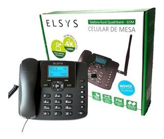 Telefone Celular Rural Mesa Quadband Dual Chip Epfs12 Elsys