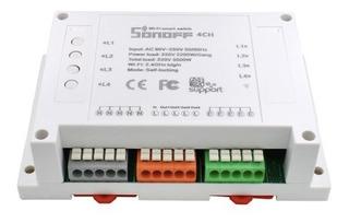 Sonoff® Wi-fi Módulo De Control De 4 Canales