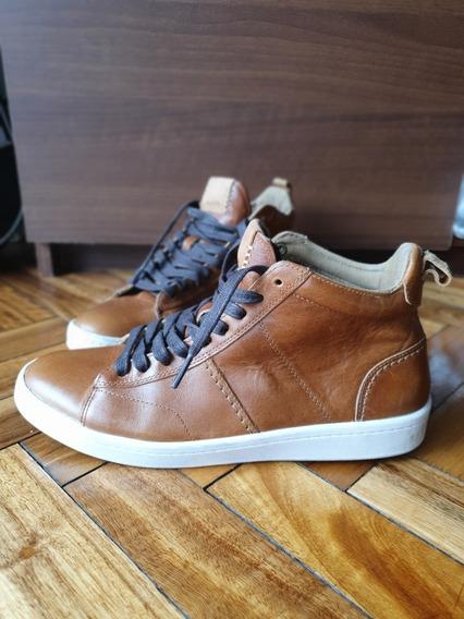Zapatillas Botitas Aldo De Cuero, Talle 42 Europa, 9 Usa, 8