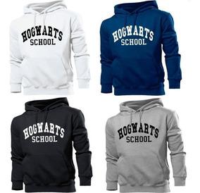 Moletom Hogwarts School Harry Potter Blusa Canguru Com Capuz
