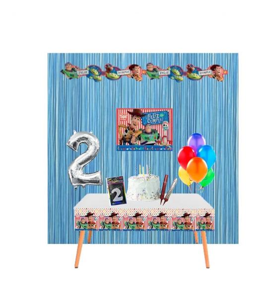 Kit Cumpleaños En Casa - Decoración Cumple Virtual Toy Story