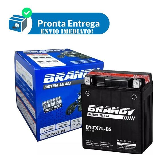 Bateria Moto Dafra Apache 150 By-tx7l-bs Brandy