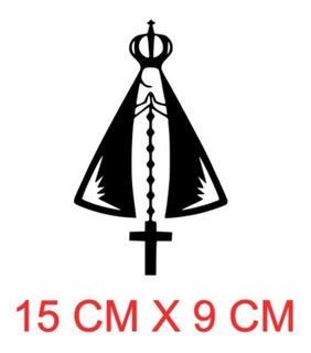 Adesivo Nossa Senhora Com Terço Decorativo Para Carro