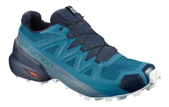 Tenis Trail Running Salomon Speedcross 5 Blue Men - Run24
