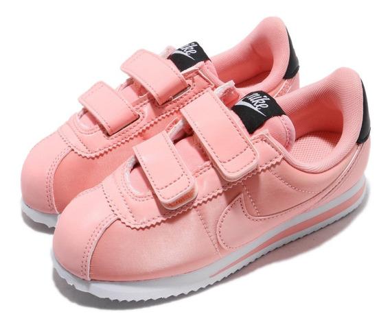Zapatillas Nike Cortez Basic Txt Vday Niñas (psv) Bq7099-600