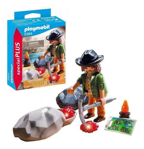 Imagen 1 de 4 de Playmobil Special Plus Figura Buscador De Gemas 5384