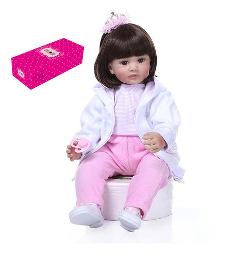 Decdeal - Muñeca Para Bebé (61 Cm, Silicona, Tamaño Grande)