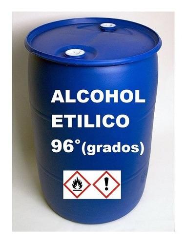 Alcohol Etílico (potable) De 96° / Tanque X 210 Litros