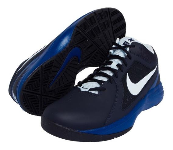 Tênis Nike The Overplay Viii Azul Peça Unica De Mostruário.