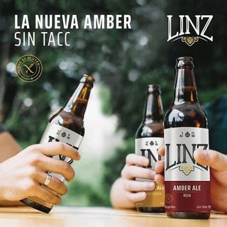 Cerveza Linz Sin Gluten Roja, Pack X 6 Bot Amber Ale S/tacc