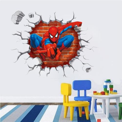 Adesivo Decorativo Parede Buraco Falso Homem Aranha 60x46cm