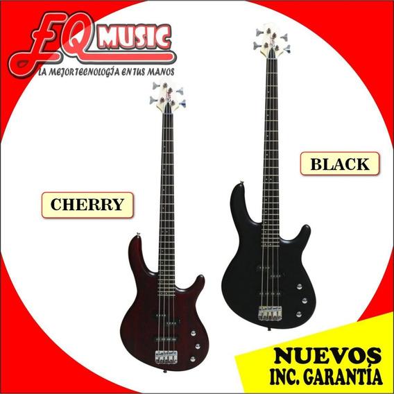 Bajo Electrico 4 Cuerdas Cort Action Negro/cherry De Paquete