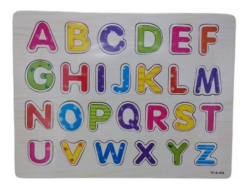 Encaje Alfabetico Madera Abecedario Letras Acool Ac7677 Full