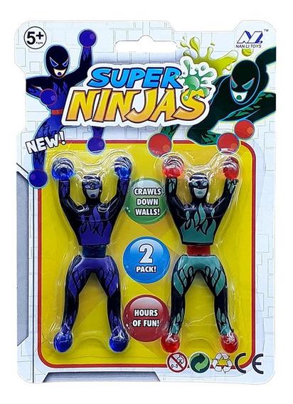 Bonecos Super Ninjas Cartela Gruda Na Parede Ou Vidro Escala