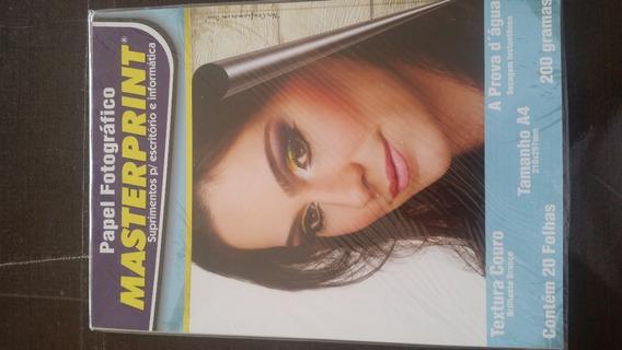 Papel Fotográfico Textura Couro 200gr 20fls - Masterprint