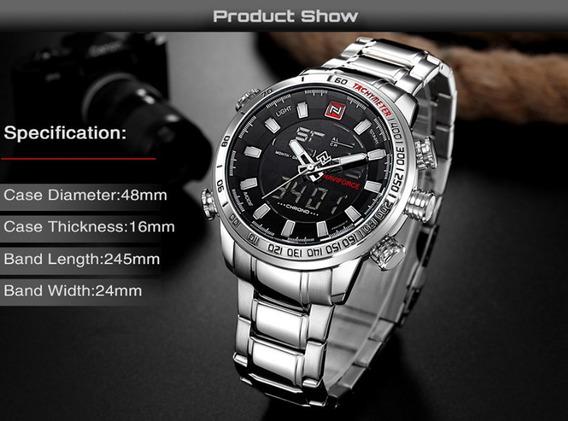 Relógio Masculino Em Aço Inoxidável Navforce