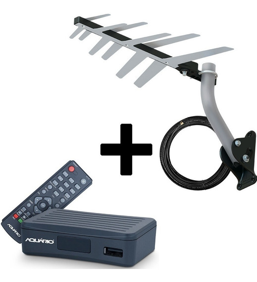 Kit Conversor Digital Dtv4000 + Antena Externa Hdtv Dtv-1500