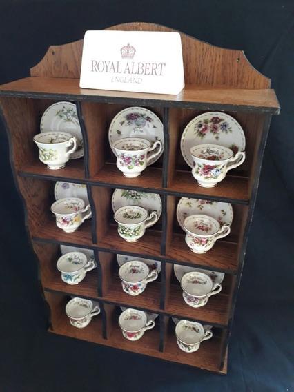 Royal Albert - Armário De Parede Com 12 Mini Xícaras Meses