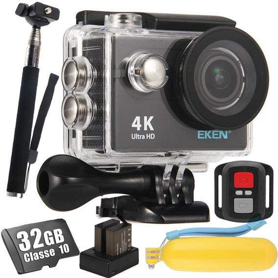 Câmera Eken H9r 32gb + Bastão+ Flutuante+ Baterias + Brindes