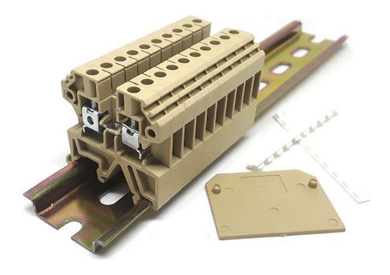 Sak Jxb 4/en ( Jut2-4 ) Borne De Passagem Sak 4mm Com 10 Pçs
