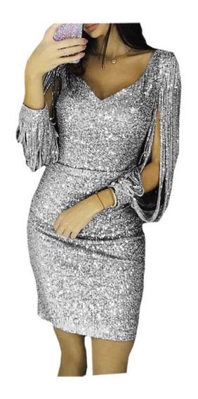 Vestido De Noche De Cuello En V Para Mujeres S-xl