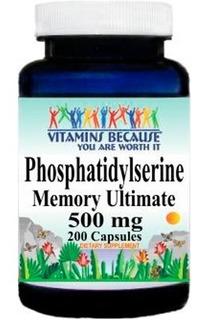 Phosphatidylserine (fosfatidilserina) 500 Mg 200 Capsulas