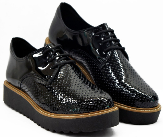Zapato Plataforma Mujer Charol Savage Sm-57-s Calzados Susy