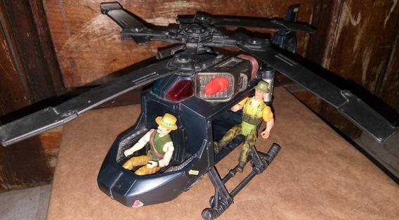 Helicóptero Brinquedo Antigo Chap Mei Completo Com Bonecos