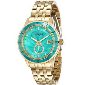 Relógio Seculus Feminino Dourado 28708lpsvds2