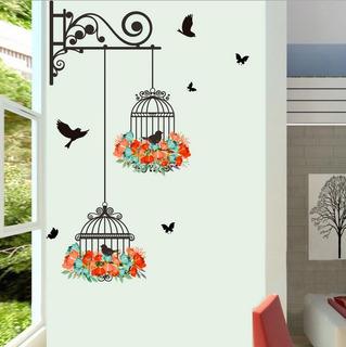 Jaula De Pájaros Pintura Decorativa Dormitorio Sala De Estar