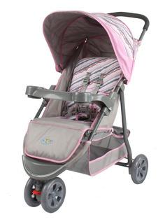 Carrinho Triciclo 3 Rodas De Bebê Berço E Passeio Junne Rosa