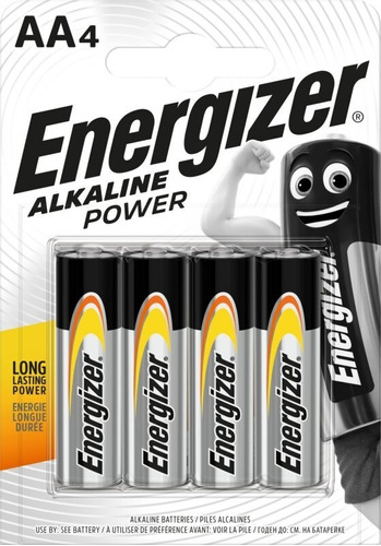 Bateria Energizer Aa4 Blister 4 Unidades