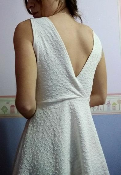 Vestido Blanco Corto De Fiesta