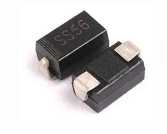 Diodo Ss56 Smd 60v/5a Schottky Original - Lote 10 Unidades