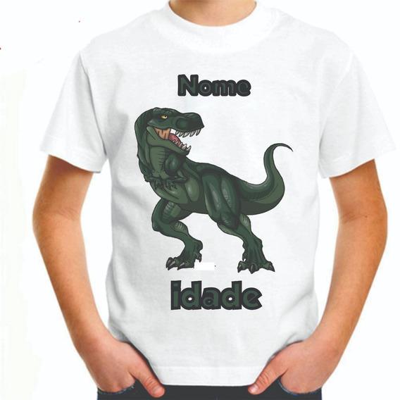 Camisa Camiseta Personalizada Dinossauro Masculino