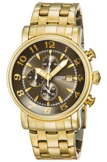 Relógio Technos Classic Grandtec Masculino Dourado Os10cr/4d
