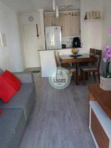 Imagem 1 de 21 de Apartamento Com 2 Dormitórios À Venda, 48 M² Por R$ 265.000,00 - Vila Gonçalves - São Bernardo Do Campo/sp - Ap1745