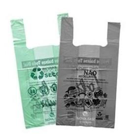 500 Sacolas Plástica Biodegradável 48x55 Cinza Ou Verde