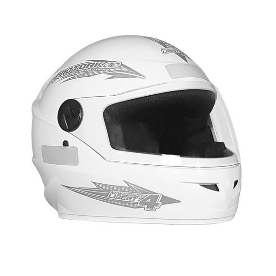 Capacete Moto Fechado Protork Liberty 4 Branco 56/58/60