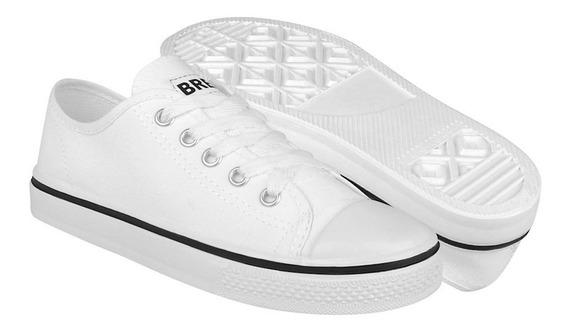 Tenis Casuales Bresa Unisex Textil Blanco 860