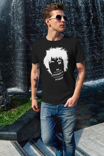 Camiseta S R Me Acorde Preta/branca