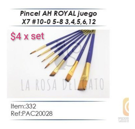 Pinceles Ah Royal X Estuches