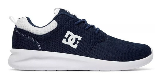 Zapatillas Dc Shoes Midway Azul Blanca Nav Running