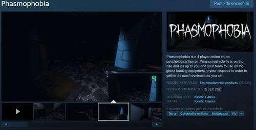 Imagen 1 de 1 de Phasmophobia / Pc / Original / Steam