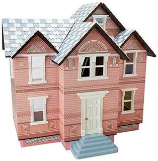Kids House Casa De Muñecas Isabella, De Madera Con Muebles